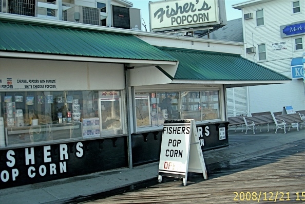 An Ocean City landmark, Fishers Popcorn, is open on the boardwalk, this first day of winter. More pictures in the story below.