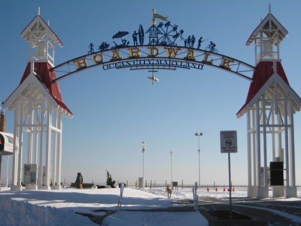 Welcome to the Ocean City Boardwalk, a three-mile-long walking tour of Winter Wonderland.