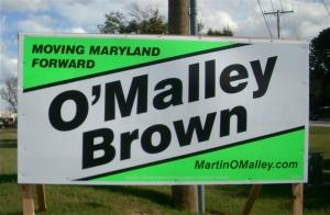 Martin O'Malley sign