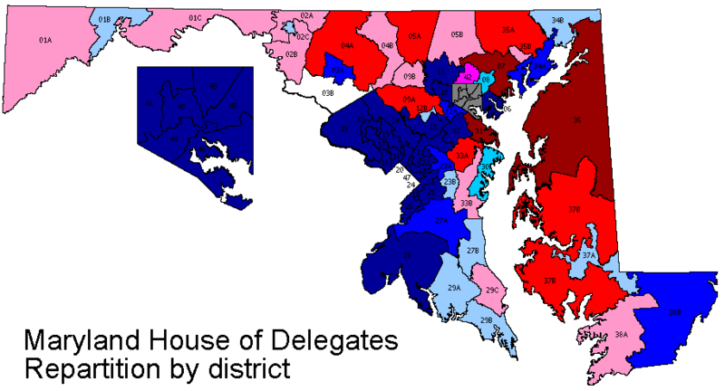 Maryland Legislative Redistricting Maps (Proposed) | Ocean City Blog