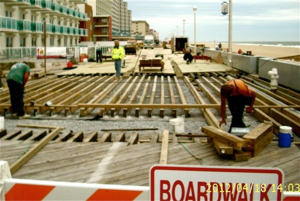 Workers were finishing up this year's half of the Boardwalk reconstruction project earlier this week. The Boardwalk is all new from the north end  to about 15th St. The other half, south from 15th St. to the Inlet, will be done next winter.